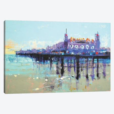Let's Play On Palace Pier Canvas Print #CRU36} by Colin Ruffell Canvas Artwork