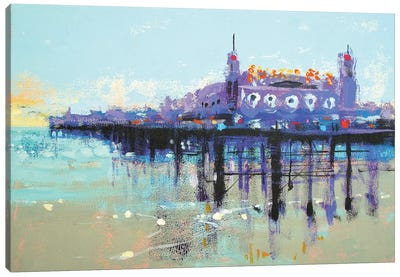 Let's Play On Palace Pier Canvas Art Print