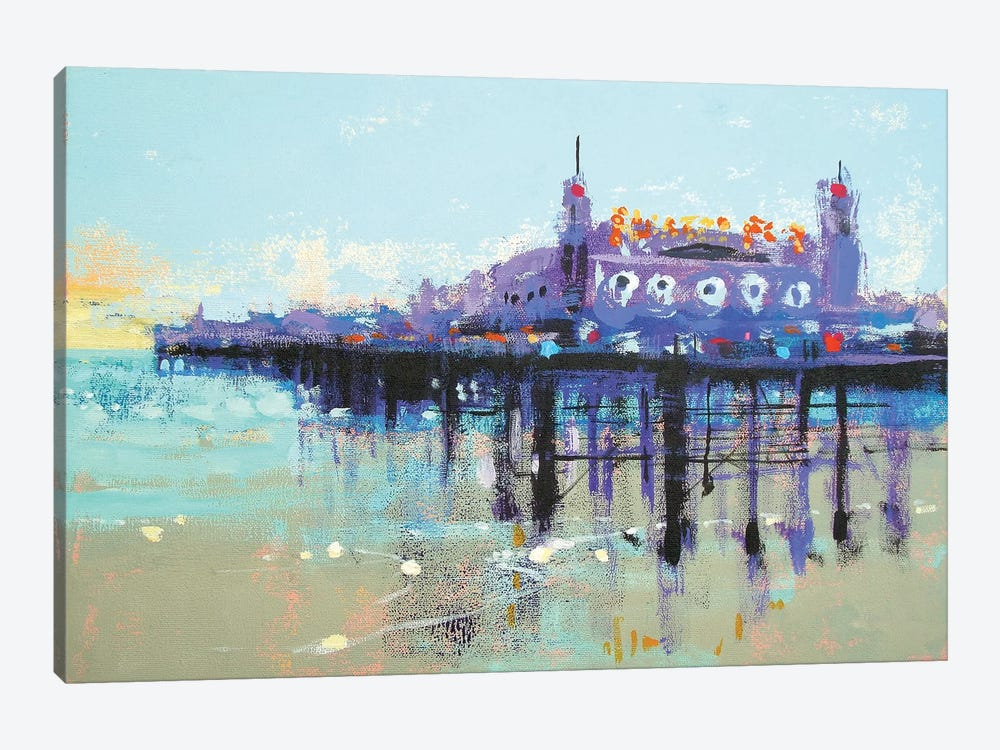Let's Play On Palace Pier by Colin Ruffell 1-piece Canvas Art Print