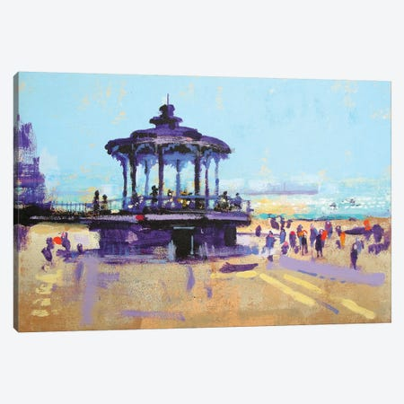 Let's Play On The Bandstand Canvas Print #CRU37} by Colin Ruffell Canvas Wall Art