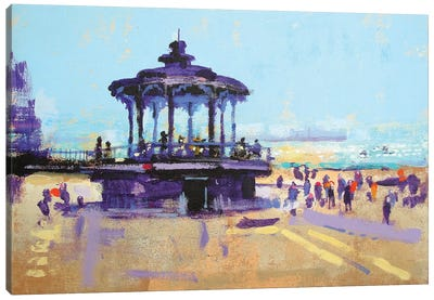 Let's Play On The Bandstand Canvas Art Print