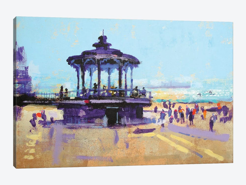 Let's Play On The Bandstand by Colin Ruffell 1-piece Canvas Art