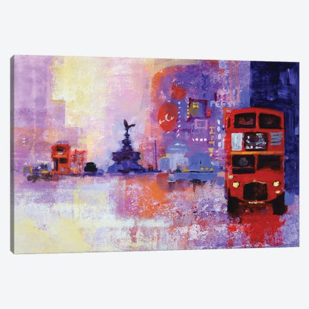 London Bus Canvas Print #CRU39} by Colin Ruffell Art Print