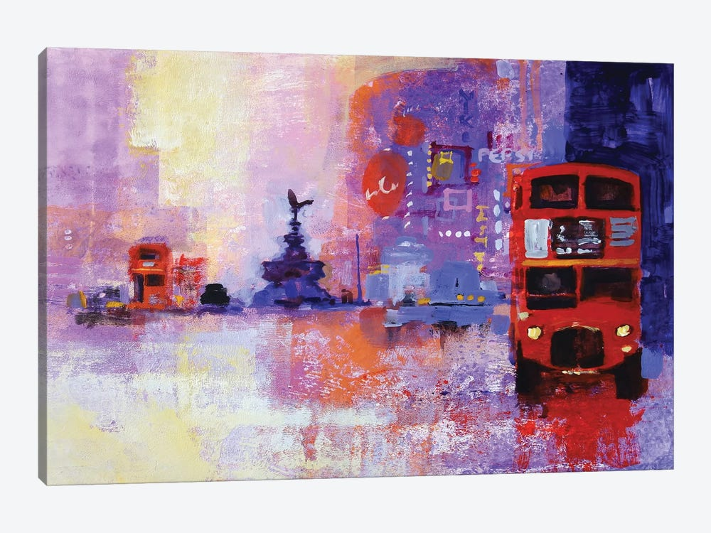 London Bus by Colin Ruffell 1-piece Canvas Art