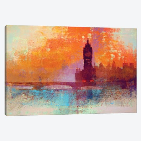 Big Ben Sunset Canvas Print #CRU3} by Colin Ruffell Canvas Print