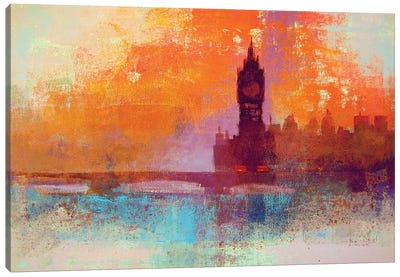 Big Ben Sunset Canvas Art Print
