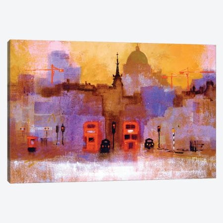 London Buses Canvas Print #CRU40} by Colin Ruffell Canvas Art