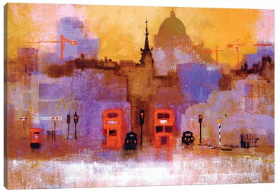 London Buses Canvas Art Print