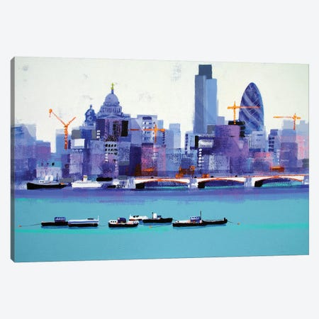 London Skyline Canvas Print #CRU43} by Colin Ruffell Canvas Art