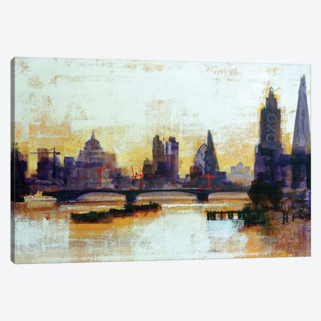 London Sleeps Canvas Print #CRU44} by Colin Ruffell Canvas Print