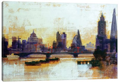 London Sleeps Canvas Art Print