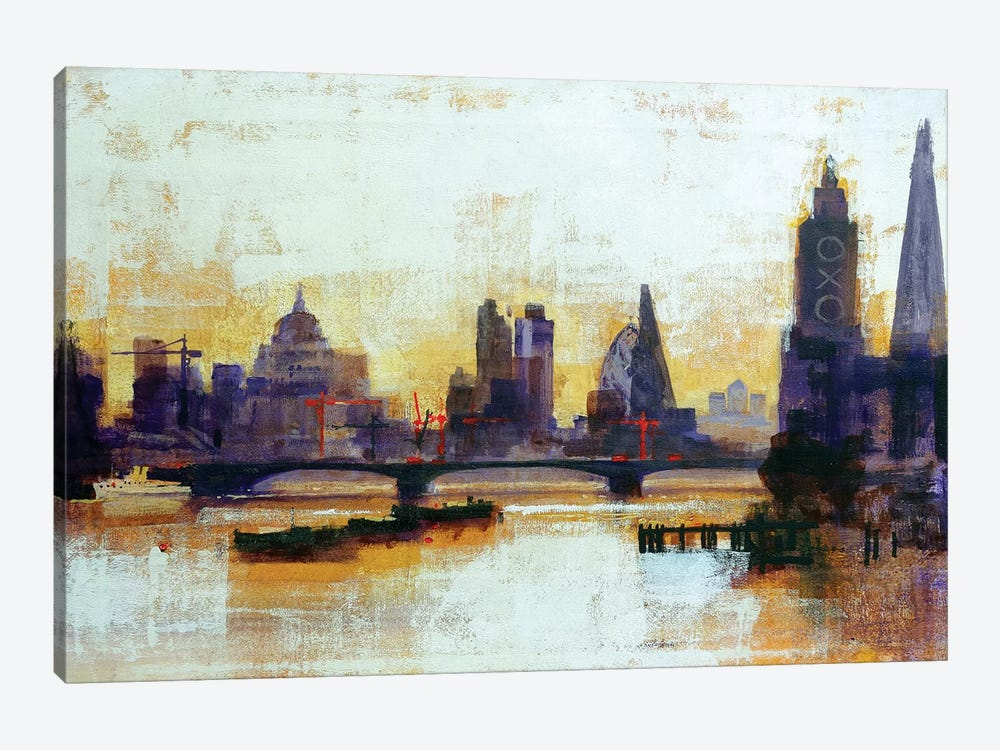 London Sleeps by Colin Ruffell 1-piece Canvas Artwork