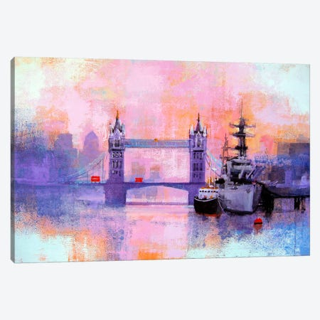 London Tower Bridge Canvas Print #CRU46} by Colin Ruffell Art Print