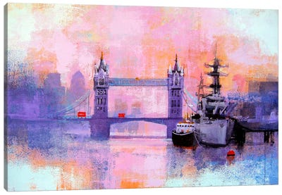 London Tower Bridge Canvas Art Print