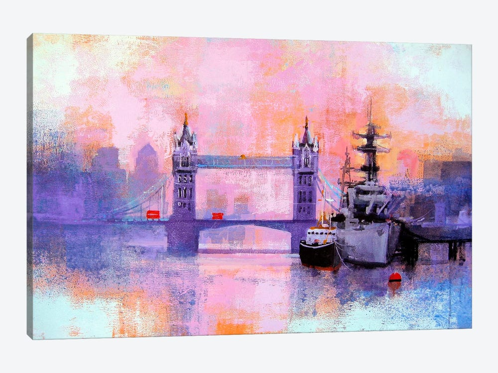 London Tower Bridge by Colin Ruffell 1-piece Canvas Artwork