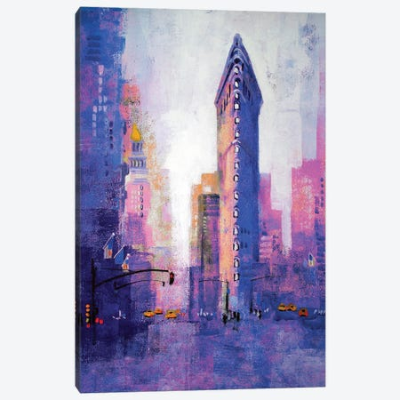 Manhattan Flatiron Canvas Print #CRU48} by Colin Ruffell Canvas Wall Art