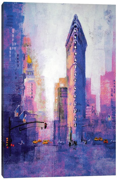 Manhattan Flatiron Canvas Art Print