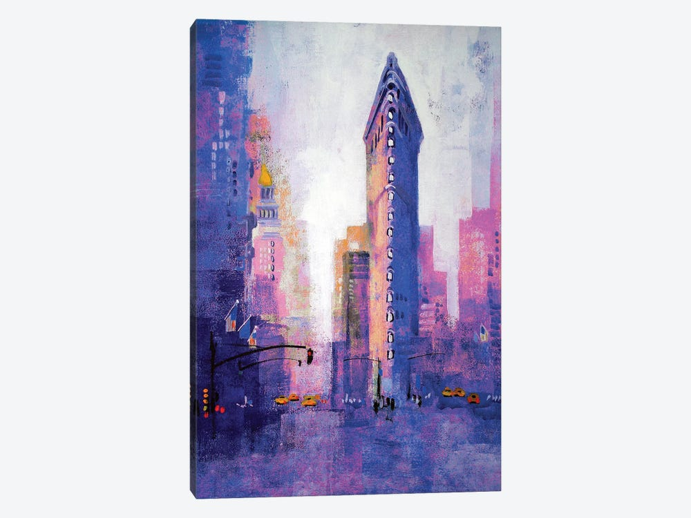 Manhattan Flatiron by Colin Ruffell 1-piece Canvas Artwork