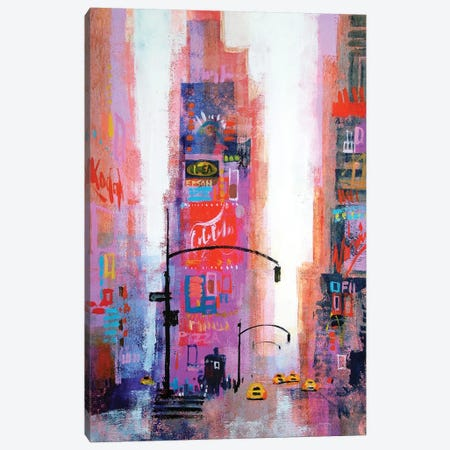 Manhattan Times Square Canvas Print #CRU49} by Colin Ruffell Canvas Artwork