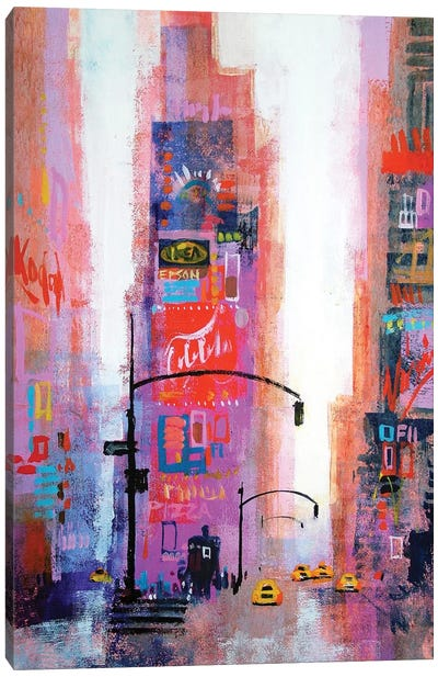 Manhattan Times Square Canvas Art Print