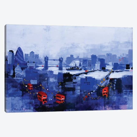 Blue Panorama Canvas Print #CRU4} by Colin Ruffell Canvas Wall Art