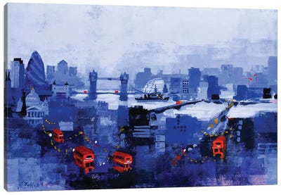 Blue Panorama Canvas Art Print