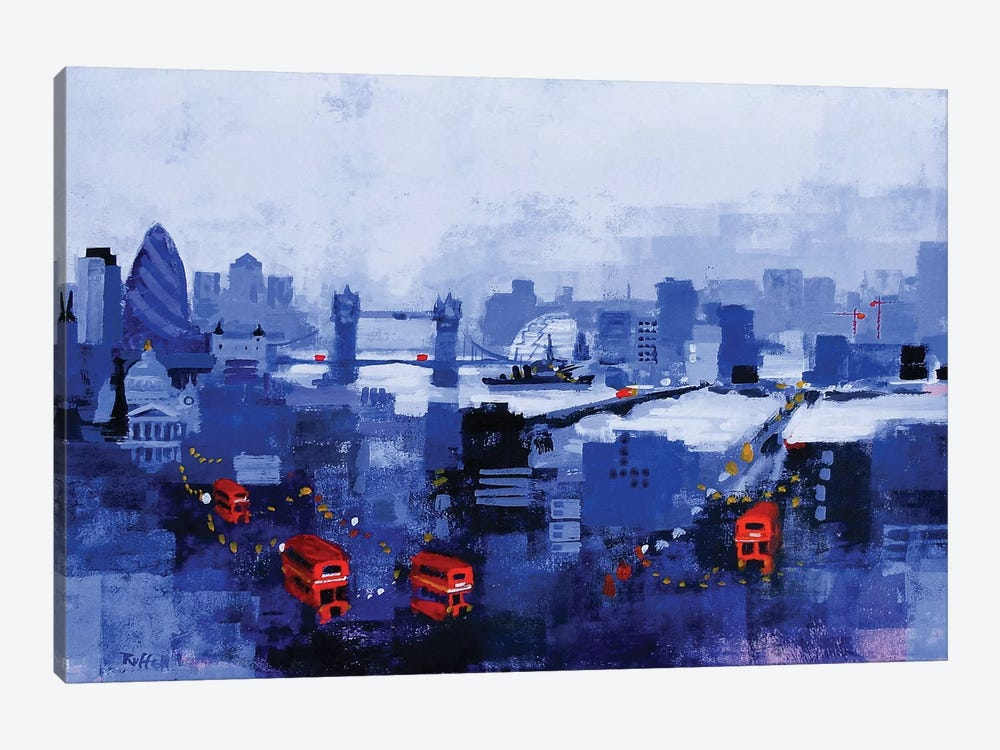 Blue Panorama by Colin Ruffell 1-piece Canvas Art