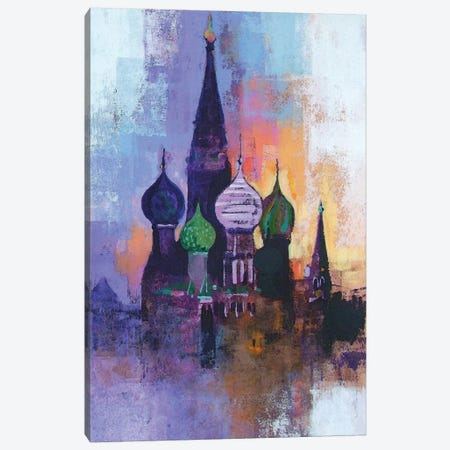 Moscow Red Square Canvas Print #CRU51} by Colin Ruffell Canvas Art Print