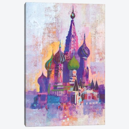 Moscow Saint Basil's Cathedral Canvas Print #CRU52} by Colin Ruffell Canvas Art Print