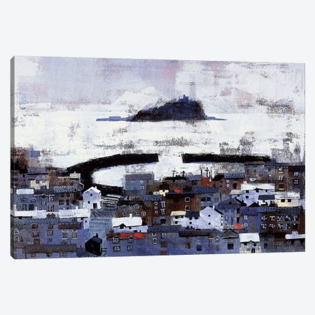 Mount Bay Canvas Print #CRU53} by Colin Ruffell Art Print