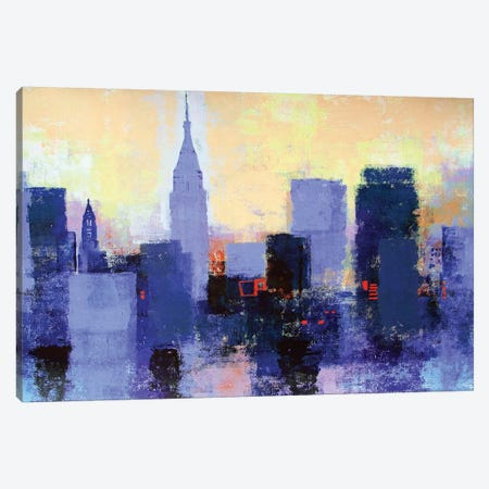 New York Skyline Canvas Print #CRU57} by Colin Ruffell Canvas Artwork