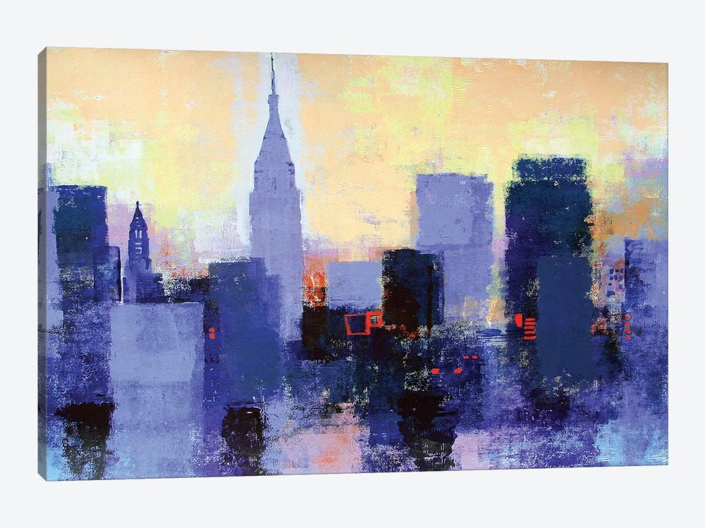 New York Skyline by Colin Ruffell 1-piece Canvas Artwork