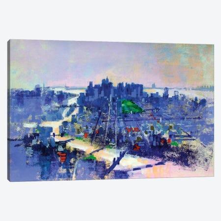 NYC East River Canvas Print #CRU59} by Colin Ruffell Canvas Art Print