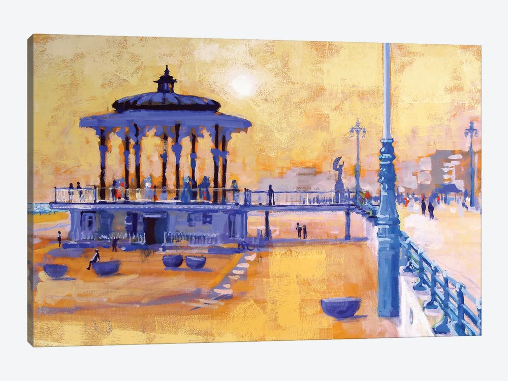 Brighton Bandstand by Colin Ruffell 1-piece Canvas Art Print