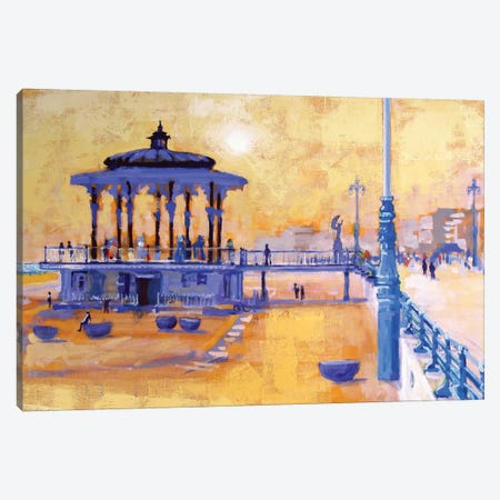 Brighton Bandstand 3-Piece Canvas #CRU5} by Colin Ruffell Canvas Wall Art