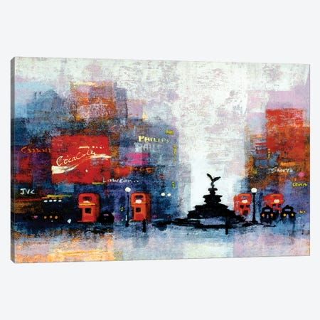 Piccadilly Circus Canvas Print #CRU63} by Colin Ruffell Canvas Wall Art