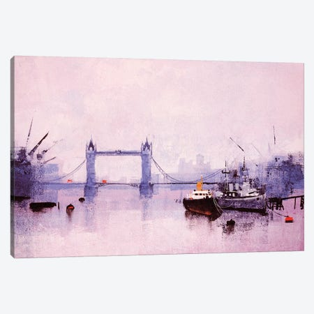 Pool Of London Canvas Print #CRU65} by Colin Ruffell Art Print