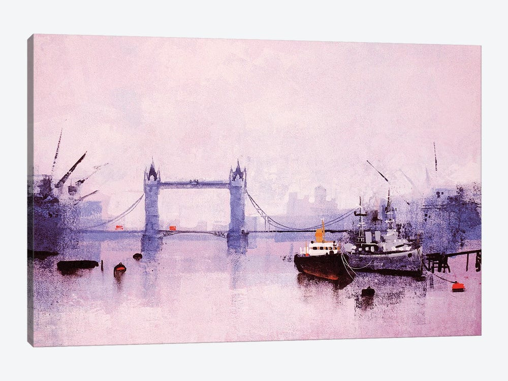 Pool Of London by Colin Ruffell 1-piece Canvas Print