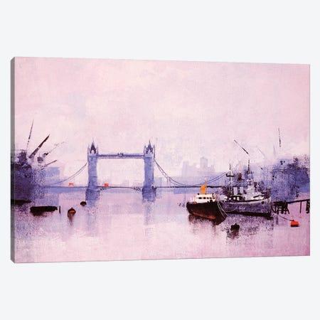 Pool Of London Canvas Print #CRU65} by Colin Ruffell Art Print