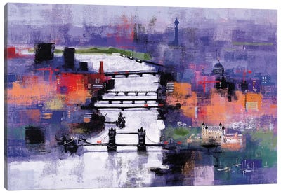 River Thames Canvas Art Print