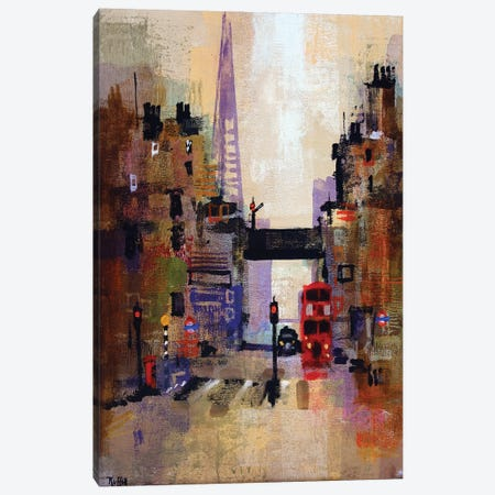 Shard And Bus Canvas Print #CRU69} by Colin Ruffell Canvas Art
