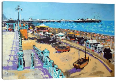 Brighton Beach Canvas Art Print