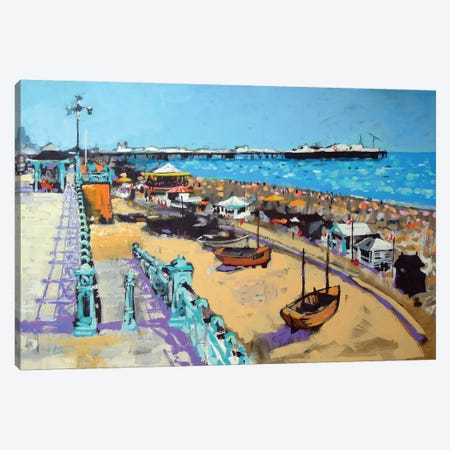Brighton Beach Canvas Print #CRU6} by Colin Ruffell Canvas Artwork