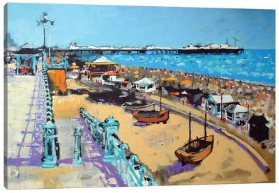 Brighton Beach Canvas Art Print