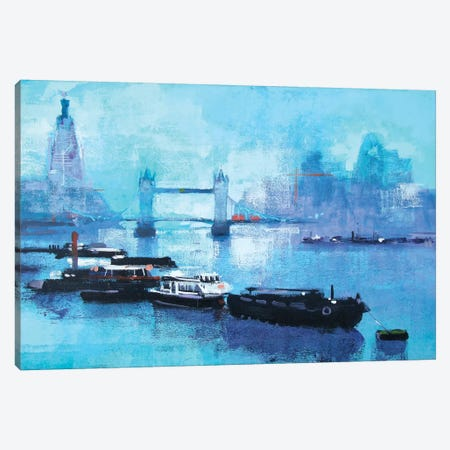 Shard And Tower Bridge Canvas Print #CRU70} by Colin Ruffell Canvas Print
