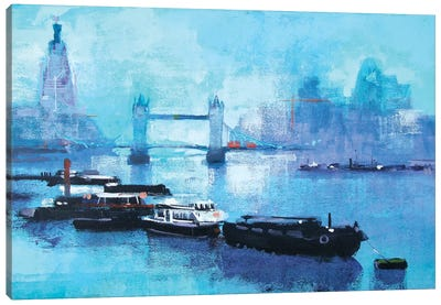 Shard And Tower Bridge Canvas Art Print