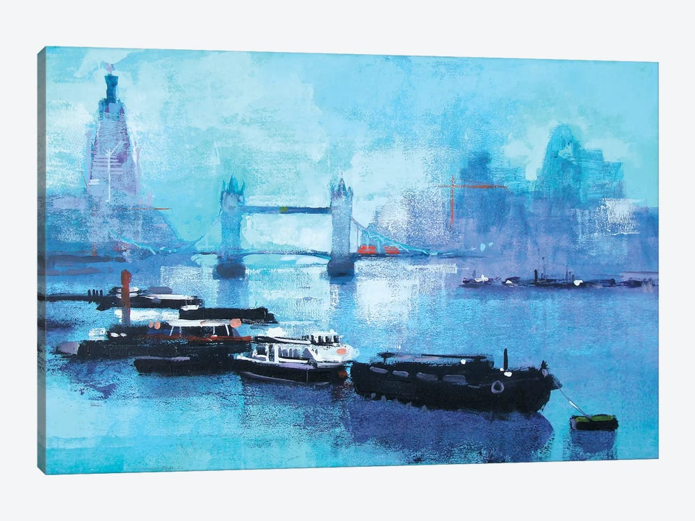 Shard And Tower Bridge by Colin Ruffell 1-piece Canvas Print