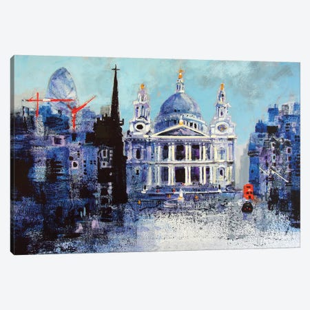 St. Paul's Cathedral II Canvas Print #CRU73} by Colin Ruffell Canvas Print