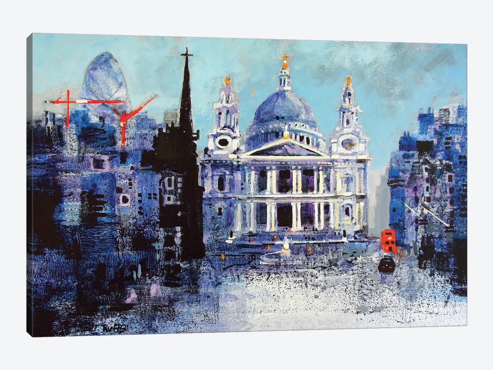 St. Paul's Cathedral II by Colin Ruffell 1-piece Canvas Artwork