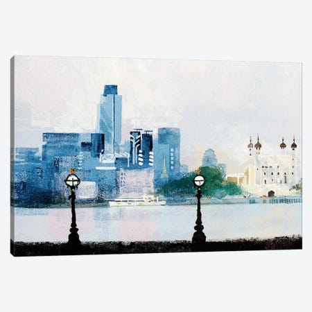 The City Canvas Print #CRU79} by Colin Ruffell Art Print